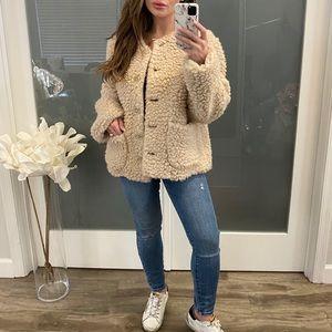 Mansur Gavriel Furry Cashmere Short Jacket
